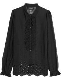 The Kooples Blouse With Broderie Anglaise