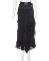 Chanel Silk Tiered Skirt