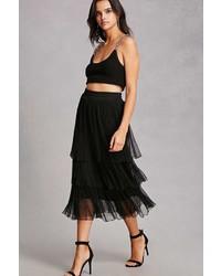Tiered semi sheer pleated skirt medium 5366005