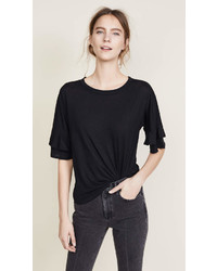 Drop shoulder ruffle sleeve tee medium 6992825