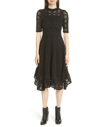 See by Chloe Handkerchief Hem Crochet Midi Dress