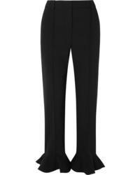 Valentino Ruffled Cady Straight Leg Pants