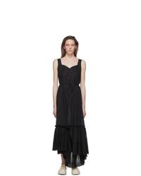 Marni Black Ruffled Long Dress
