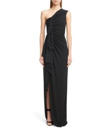 Givenchy One Shoulder Crepe Jersey Gown