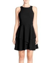 Adelyn r gabardine fit flare dress medium 911499
