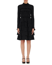 Amelia Toro Mock Turtleneck Ruffle Dress