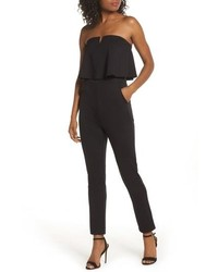 Fraiche by J Strapless Ruffle Jumpsuit An Oversized Ruffle Overlay Highlights The Strapless Neckline Of An Oversized Ruffle Overlay Highlights The Strapless Neckline Of An Oversized Ruffle Overlay Highlights The Strapless Neckline Of An Oversized Ruffle Overlay Highl