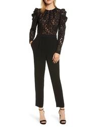 MICHAEL Michael Kors Black Lace Jumpsuit
