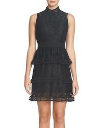CeCe Brea Tiered Lace Sheath Dress