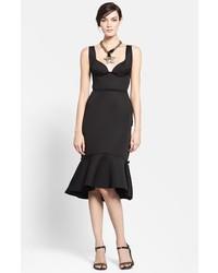 Lanvin Flounce Hem Woven Dress