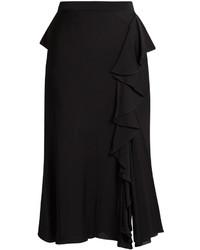 Alexander McQueen Ruffled High Rise Midi Skirt