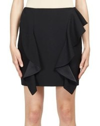 Givenchy Ruffle Detail Wool Mini Skirt
