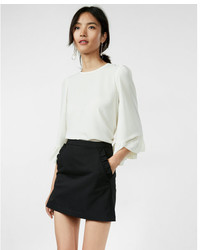 Express Ruffle Pocket Mini Skirt