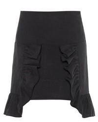 Marni Ruffled Cotton Twill Miniskirt