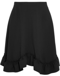 Ruffled crepe mini skirt black medium 954413