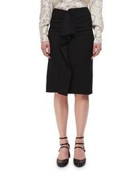 High rise deconstructed pencil skirt w ruffle medium 4156681