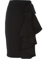 Moschino Ruffled Pencil Skirt