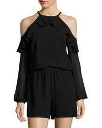 MICHAEL Michael Kors Michl Michl Kors Ruffled Cold Shoulder Romper