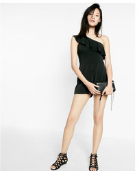 Express Ruffle One Shoulder Romper