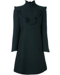 Fendi Ruffle Collar Shift Dress