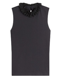 See by Chloe See By Chlo Sleeveless Cotton Top With Ruffled Neck