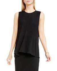 Vince Camuto Petite Sleeveless Ruffle Front Top