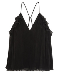 Alice McCall Lady Be Good Ruffled Pliss Cotton Blend Camisole