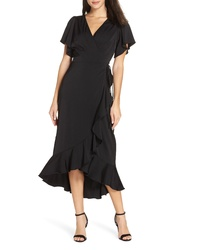 Chelsea28 Midi Ruffle Wrap Dress