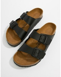 Birkenstock Arizona Birko Flor Sandals In Black