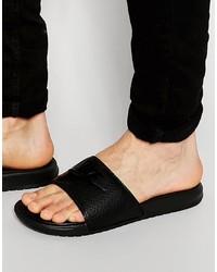 Nike Benassi Sliders In Black 343880 001