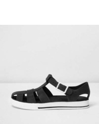 River Island Boys Black Jelly Sandals