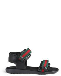 Gucci Childrens Leather Sandal With Web