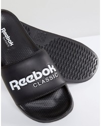 Reebok Classic Sliders In Black Bs7414