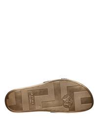 4e9cffbfbbe ... Versace Gold 3d Medusa Slide Sandals ...