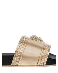 Versace Gold 3d Medusa Slide Sandals