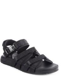 Versace Greca Detail Strap Sandals