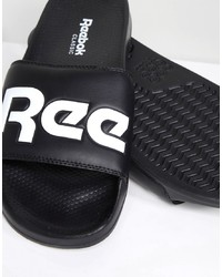 Reebok Split Sliders In Black Cn0735