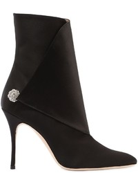 Manolo Blahnik 105mm Diazhigri Silk Satin Ankle Boots