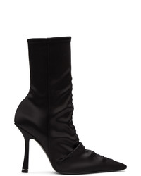 Alexander Wang Black Satin Vanna Boots