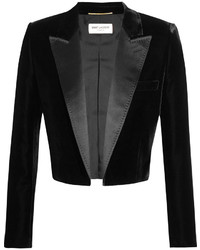 Black Satin Blazer