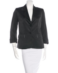 Alice + Olivia Satin Notch Lapel Blazer