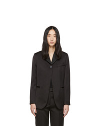 3.1 Phillip Lim Black Satin Single Button Blazer
