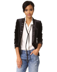 James Jeans Satin Combo Blazer