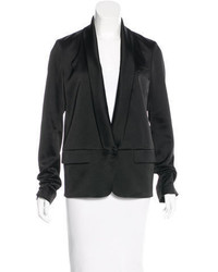 Alexander Wang Shawl Collar Satin Blazer