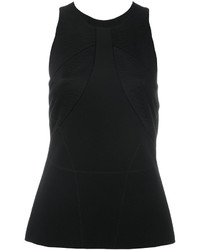 Versace Satin Panelled Crepe Top