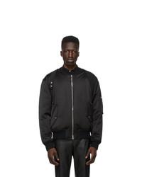 Alexander McQueen Black Harness Bomber Jacket