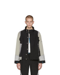 C2h4 Black Interstellar Liaison Zip Up Jacket