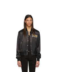 Amiri Black Players Club Bomber Jacket