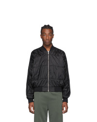 Random Identities Black Signature Bomber Jacket