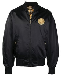VERSACE JEANS COUTURE Logo Patch Bomber Jacket